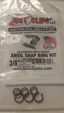"""Just clips 3/8"""" Socket Retaining clip & O-ring for impact wrenches,3 Sets #JC380"""