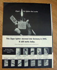1964 ZIPPO Lighter Ad Don Richter Remagen Bridgehead 99th Division WW II Germany