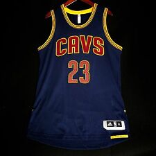 100% Authentic Lebron James Adidas Pro Cut Cavs Cavaliers Blue NBA Jersey XL 48
