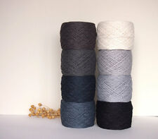 100% Linen yarn, 8 x 50g, 3-ply, laceweight, flax yarn, High Quality, crochet