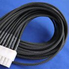 5 meters Black High Densely 3mm Expanding Matte Braided Sleeving Cable Harness