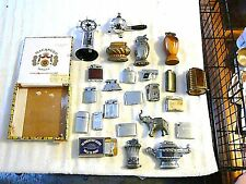 VINTAGE LOT 25 TABLE LIGHTERS ESTATE MILITARY GUNS COLLECTIBLE, RONSON, ROLLS
