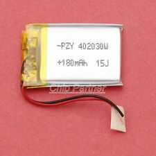 3.7V 180mAh Li-polymer Battery 402030 W/ PCM Rechargeable for Bluetooth headset