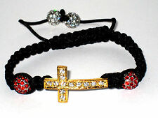 Royal Creation Shamballa Bracelet with Cross and Crystal Balls