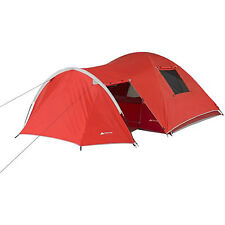 4 Person Camping Tent Vestibule 8'x8' Hiking Cabin Instant Shelter Red OT