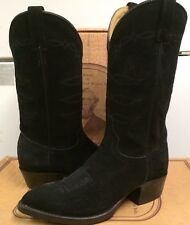 J Chisholm Women's Western  Black Calf Suede Boots 969 Size 9  NEW