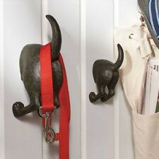 Two Dog Tail Hooks Hat Coat Pet Leash Hanger Key Holder Wall Organizer Entry