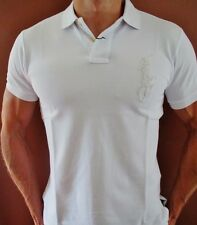 New NWT Mens Ralph Lauren Polo Shirt Big Pony Muscle Custom Fit Silver Large