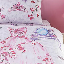 Catherine Lansfield Glamour Princess Butterfly Girls Bedding Single Fitted Sheet