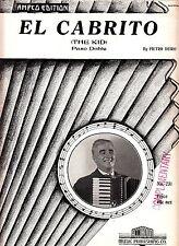 El Cabrito (The Kid) Paso Doble Pietro Deiro 1942 Accordion Sheet Music