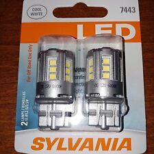Sylvania Super Bright Cool White LED 7443 6000K Factory Seal NEW Free Shipping