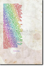 TIMOTHY LEARY QUOTE POSTER - THE PSYCHONAUT SERIES - PHOTO GIFT