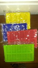 Silicone Set 4 Candy Molds Ice Cream Jello Shots  Building Bricks NEW