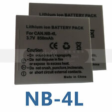 2pk NB-4L Battery Pack for Canon SD750 SD1000 SD1100 SD780 IS SD1400 SD200