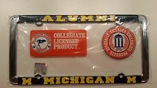 Officially Licensed Michigan Wolverines Alumni Metal License Plate Frame