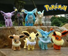 8 Pcs Leafeon Glaceon Vaporen Flareon Eevee Espeon Jolteon Umbreon Pokemon Plush