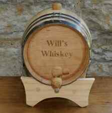 Personalized Mini-Oak Whiskey Barrel Cask Groomsmen Gift Mancave Bar