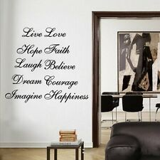 Live Love Hope Dream Stair Decals Vinyl Letters Stickers Wall Quotes Home Decor