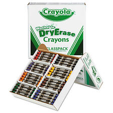 Crayola Washable Dry Erase Crayons Classpack Assorted Colors 96/Set 985208
