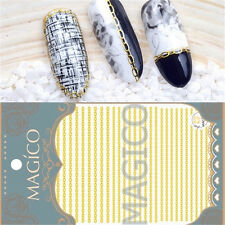 1 Pc 3D Nail Art Sticker Gold Chain Design Manicure Decal Decoration Tips DIY