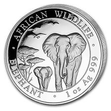 2015 1 oz Silver Somalian Elephant Coin - Brilliant Uncirculated - SKU #84833