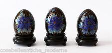 Uova Cloisonnè Decoro Fiori Oriental Ancient Antique Egg Copper H.8 diam 4,5cm