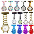 4 Style Nurse Watch Brooch Stainless Round Dial Analog Fob Quartz Pocket Watch