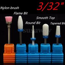 5Pcs Electric Ceramic Nail Art Drill Bits File Cuticle Manicure Pedicure Set