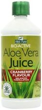 Aloe Pura, Bio-Active Aloe Vera Juice Maximum Strength 1 litre. Cranberry flavou