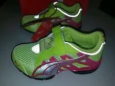 NIB Puma Kids Voltaic 3 V Girls Green and Pink Shoes Size 10.5