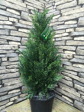 2 Best Artificial 2ft 60cm Cedar Topiary Trees ball bay boxwood plant garden new