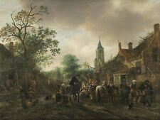 ISACK VAN OSTADE DUTCH HALT INN OLD ART PAINTING POSTER PRINT BB5723A