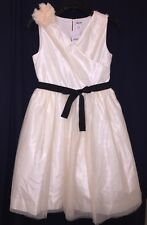 CREWCUTS Dress 14 Corsage Tulle a3915 Ivory $198 Sold Out Online NEW NWT