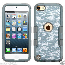 Digital Camo Shockproof Hard Cover+Soft Skin Case for iPod Touch 5th / 6th Gen