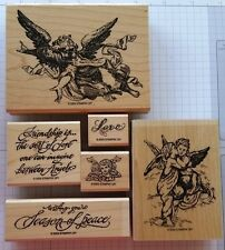 Stampin' Up! ANGELIC Christmas friends love cherub angel 2003 RETIRED