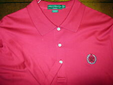 HOUSE OF CARRINGTON RED GOLF SHIRT W/ LOGO 100% COTTON SIZE L
