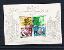 Berlin West Briefmarken 1973 50 Jahre Rundfunk Mi.Nr. Block 4