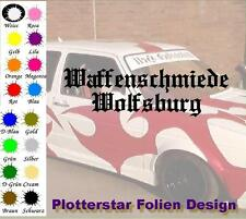 Waffenschmiede Wolfsburg nr5 Iron Cross Sticker Aufkleber Fun Geil Like Tuning