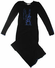 MESH BLACK BLUE RABBIT BUNNY KAWAII SPOOKY KID LONG DRESS GOTH EMO GOTHIC ANIME