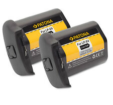 2x Patona Batteria 10,8v 2600mah compatibile con Canon lp-e4 - EOS 1d + 1ds Mark III