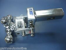 B&W Chrome Tow & Stow Tri-Ball Hitch Receiver 1 7/8 2 2 5/16 TS10048C Adjustable