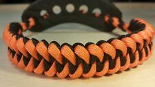 Archery bow paracord wrist sling ORANGE / Black shark 3d