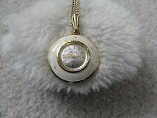 Pretty Swiss Made Kirk 17 Jewels Incabloc Wind Up Necklace Pendant Watch