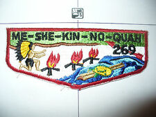 OA Me She Kin No Quah Lodge 269,S-3b,1960s Turtle Flap,173,425, Meshingomesia,IN