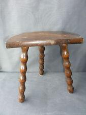 Ancien tabouret en bois deco chalet support fleurs art populaire french antique