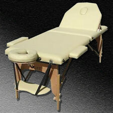 BRAND NEW MODEL LUXURY PORTABLE MASSAGE TABLE - BEIGE