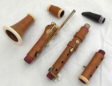Antique French six keyed Boxwood Bb Clarinet - GODFROY AINE -owner monogram P.C