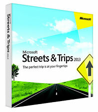 Microsoft 2013 Streets & and Trips North American Maps x32/64 Bit
