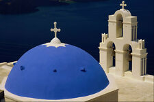 571011 Church At Firostephani Near Fira Santorini Greece A4 Photo Print
