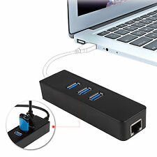 3 Ports USB 3.0 Gigabit Ethernet Lan RJ45 Network Adapter Hub to100 Mbps For PC